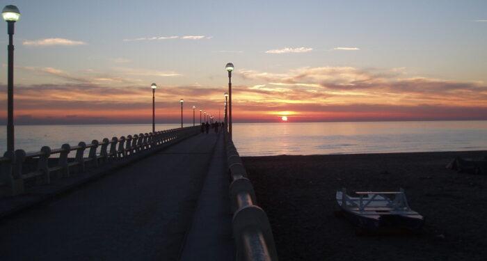 pontile di Forte dei Marmi tramonto
